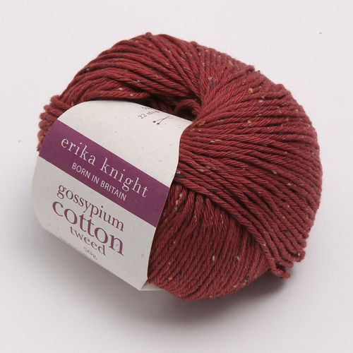 gossypium cotton tweed - weinrot
